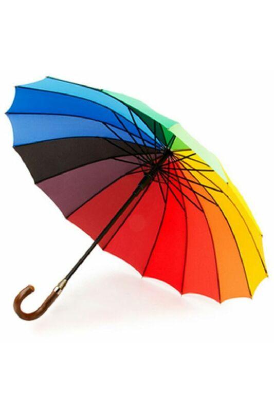 Szivárványos 16 színű esernyő 103 cm átmérő - automata