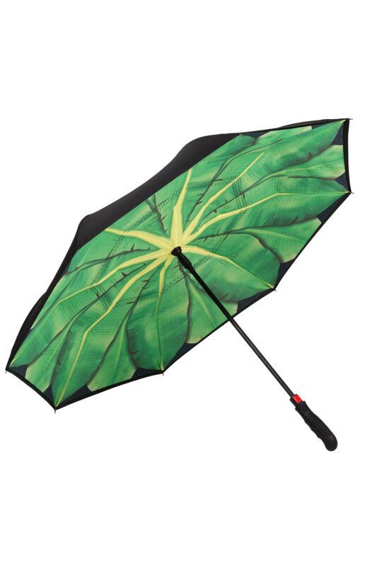 Banánlevelek - UV szűrős- kétrétegű, automata, fordított esernyő / napernyő - von Lilienfeld