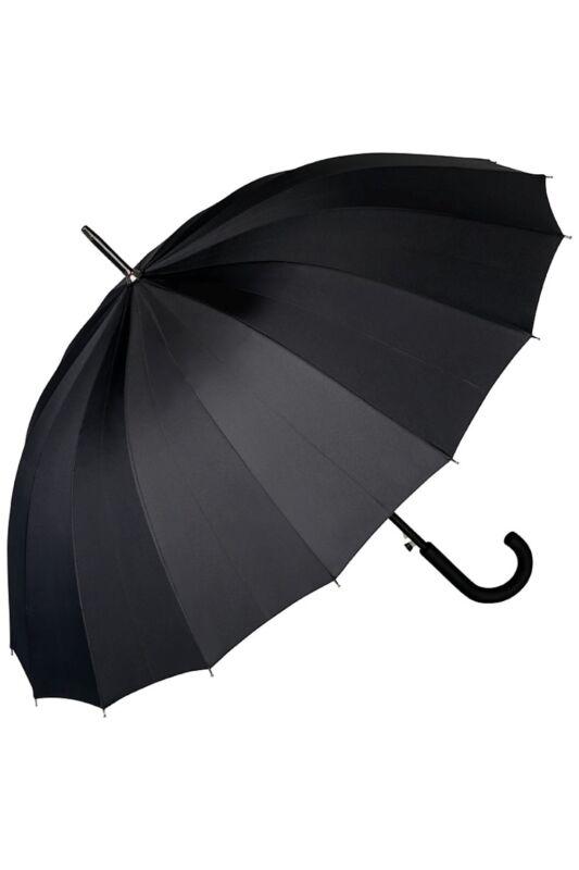 Devon 16 részes fekete- UV szűrős - automata hosszúnyelű férfi esernyő / napernyő - von Lilienfeld