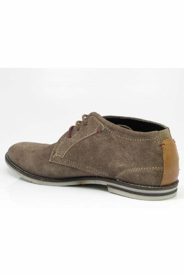 Bugatti khaki velúr cipő