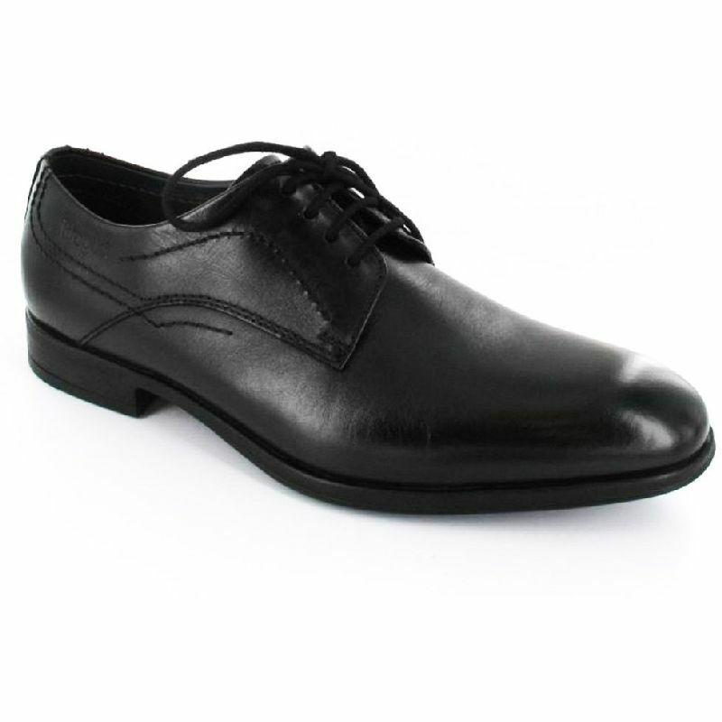 cc40c5602e Bugatti férfi, fekete, elegáns, bőrcipő, széles lábfejre, shock absorber  U7302-1