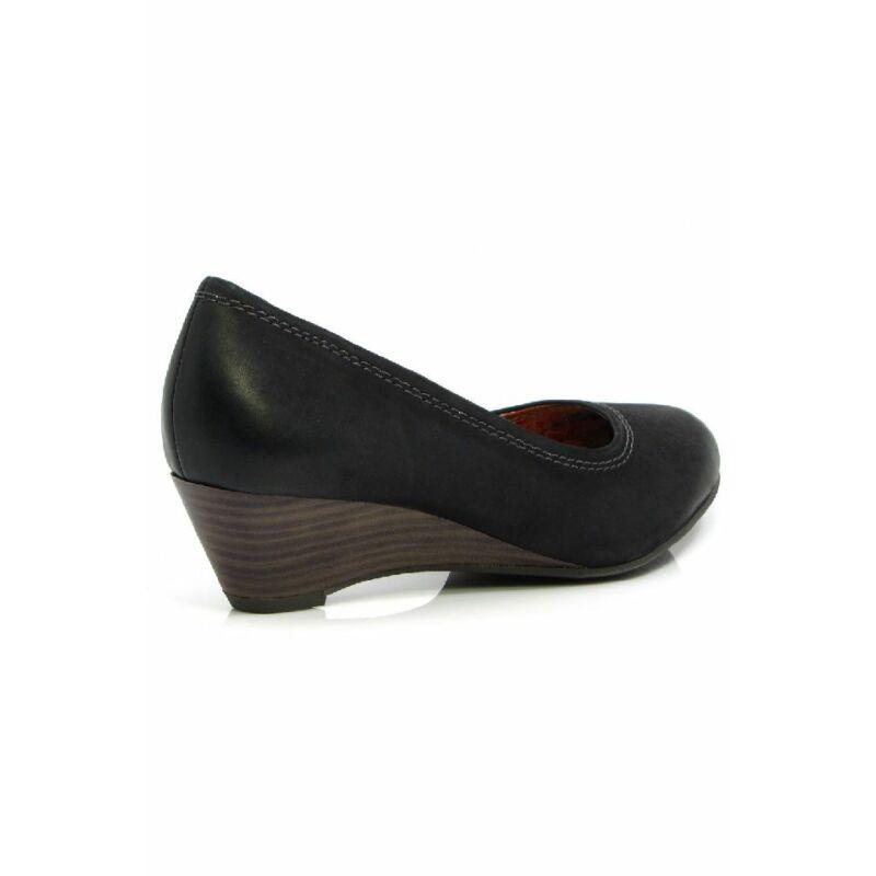 4789bbfda3 Marco Tozzi cipő, fekete, telitalpú, bőr 2/2-22308-20 - Marco Tozzi cipő